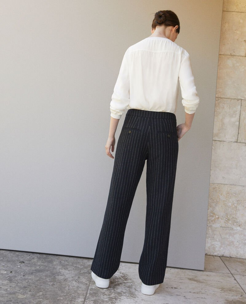 Womens Trousers Jumpsuits Comptoir Des Cotonniers Tendencies Navy Chinos Short 30 Thick Off White Quick Checkout