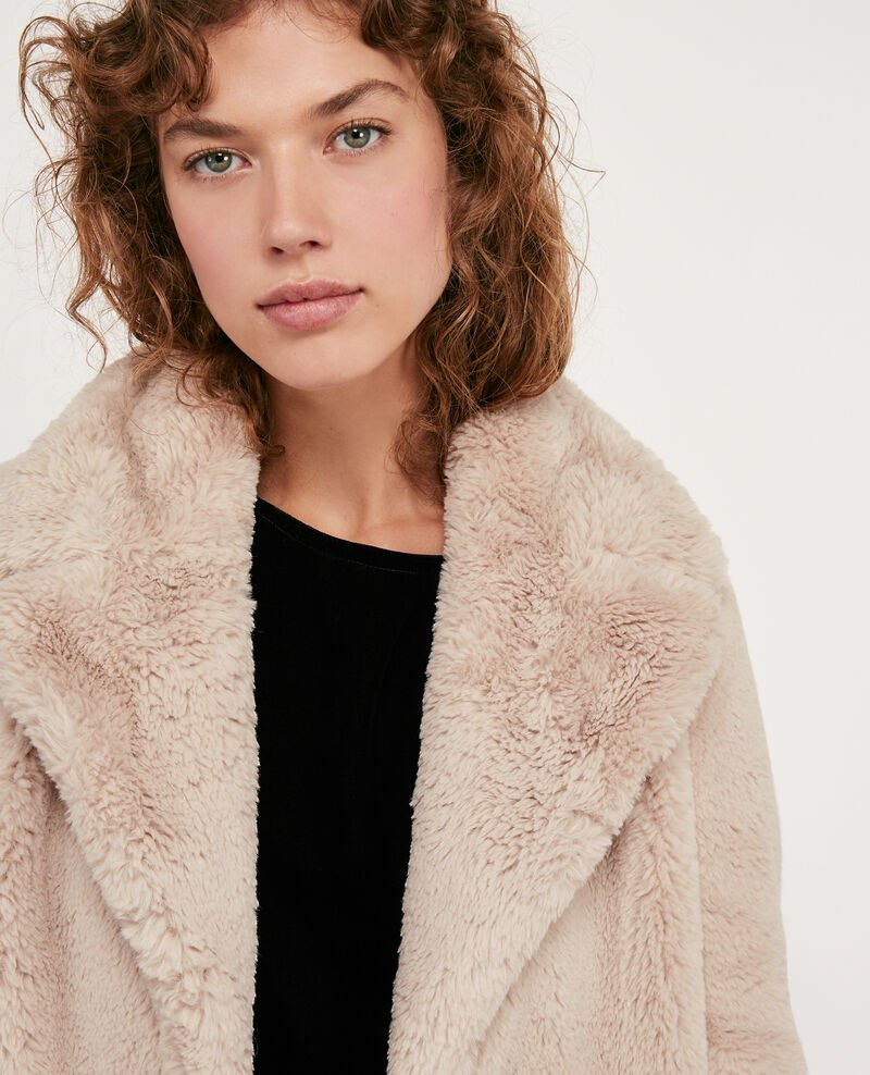 Faux fur coat Off white Dotonnier