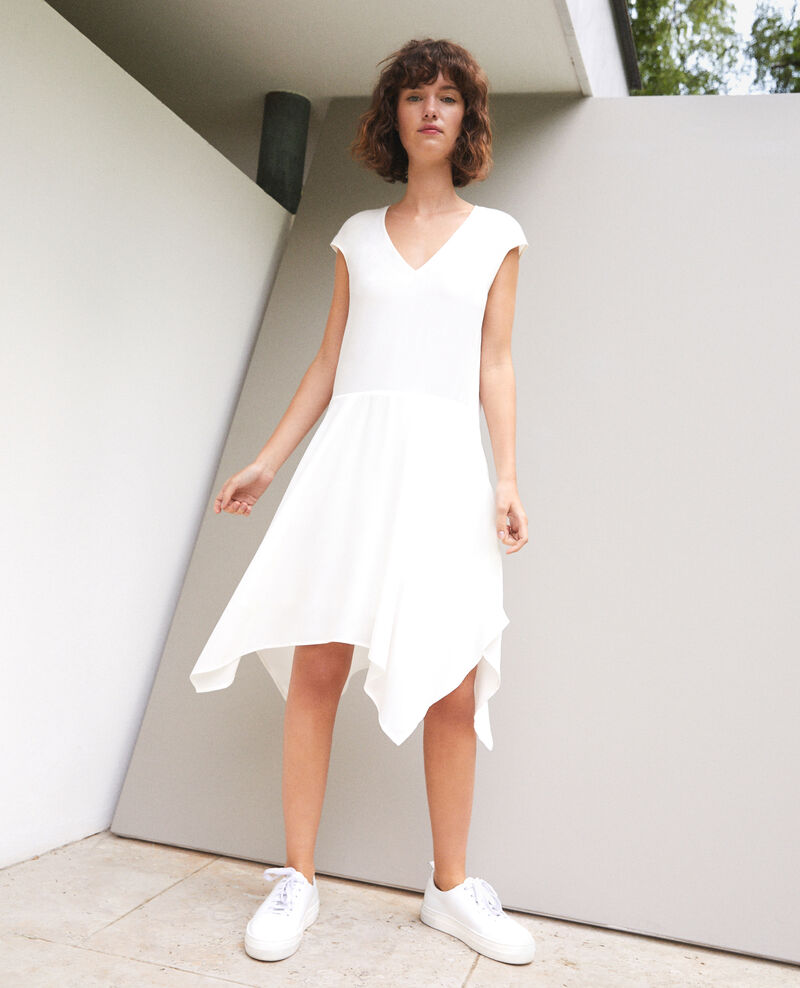 V-neck dress OFF WHITE