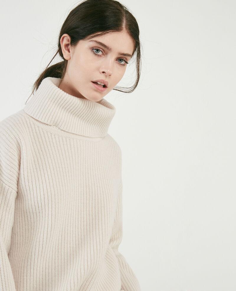 100% wool roll neck jumper Off white Dacheville