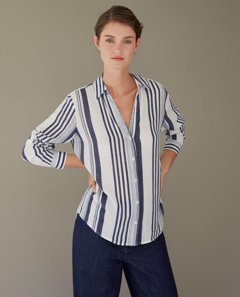Striped shirt INDIGO/WHITE