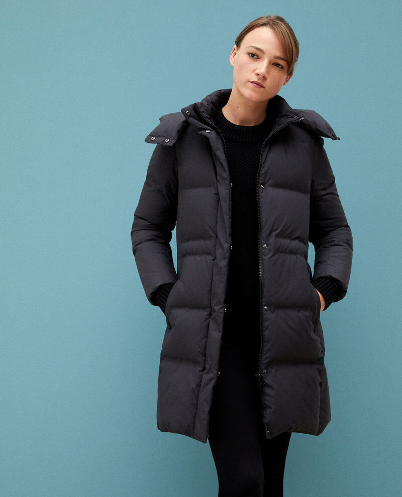 Large feather and down jacket NOIR