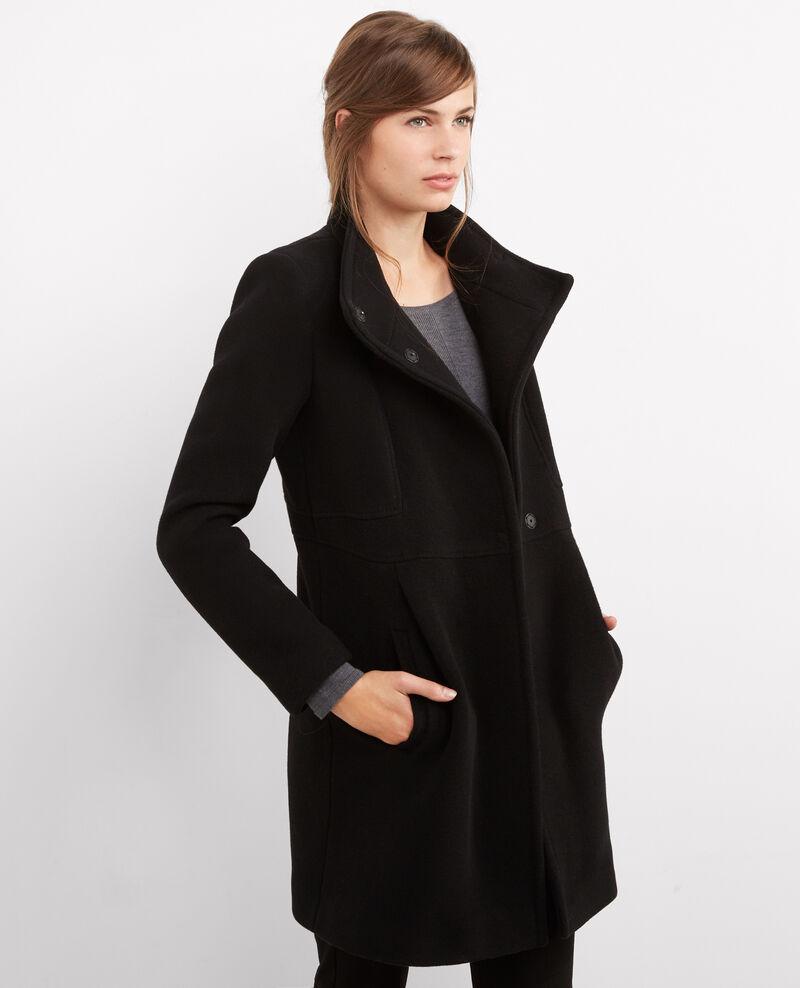 Belted wool coat Noir Bimalu