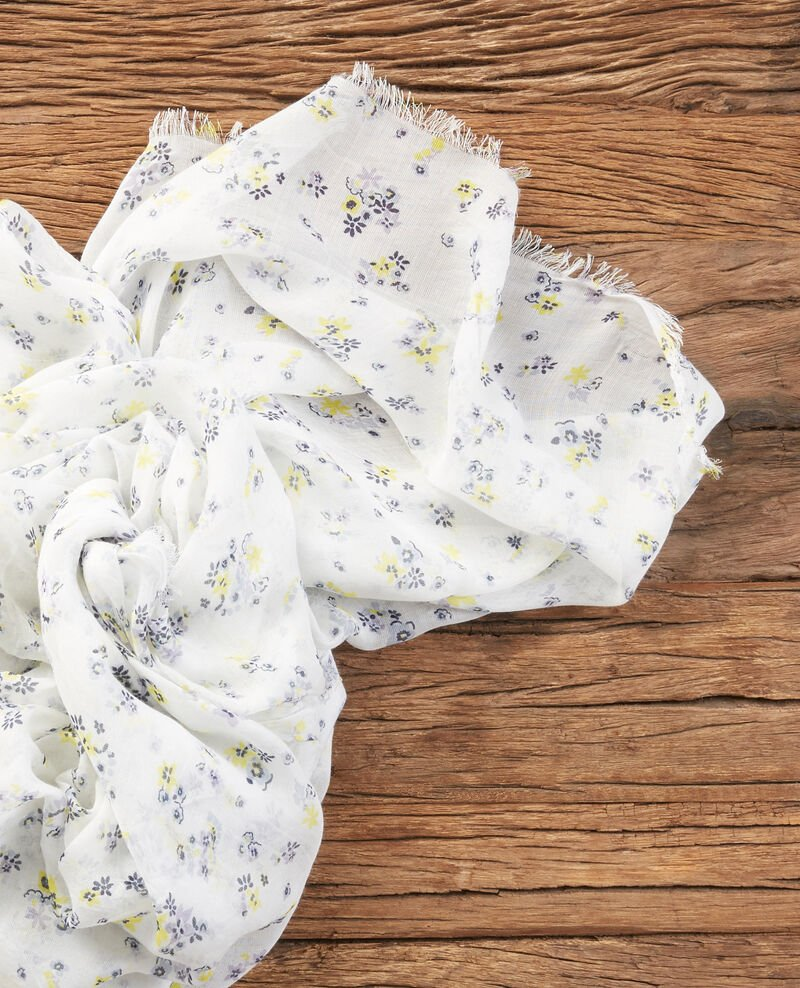Crinkle effect printed scarf Lillybell kaolin Fillyb