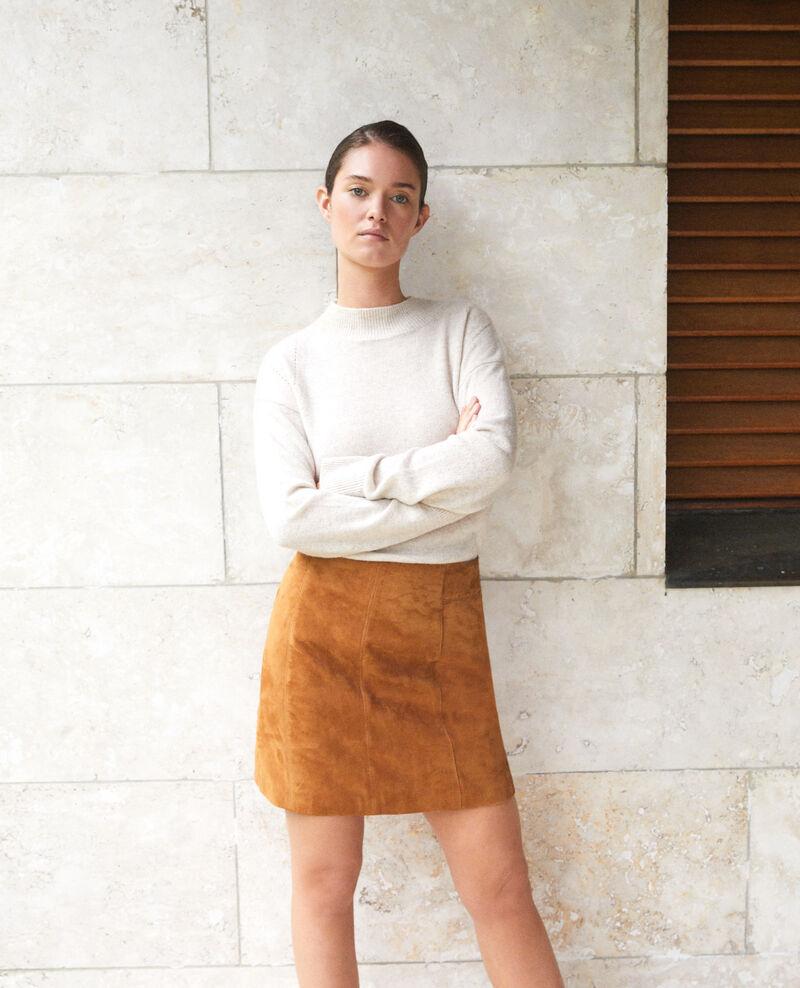 Suede pencil skirt Golden brown Georgiane