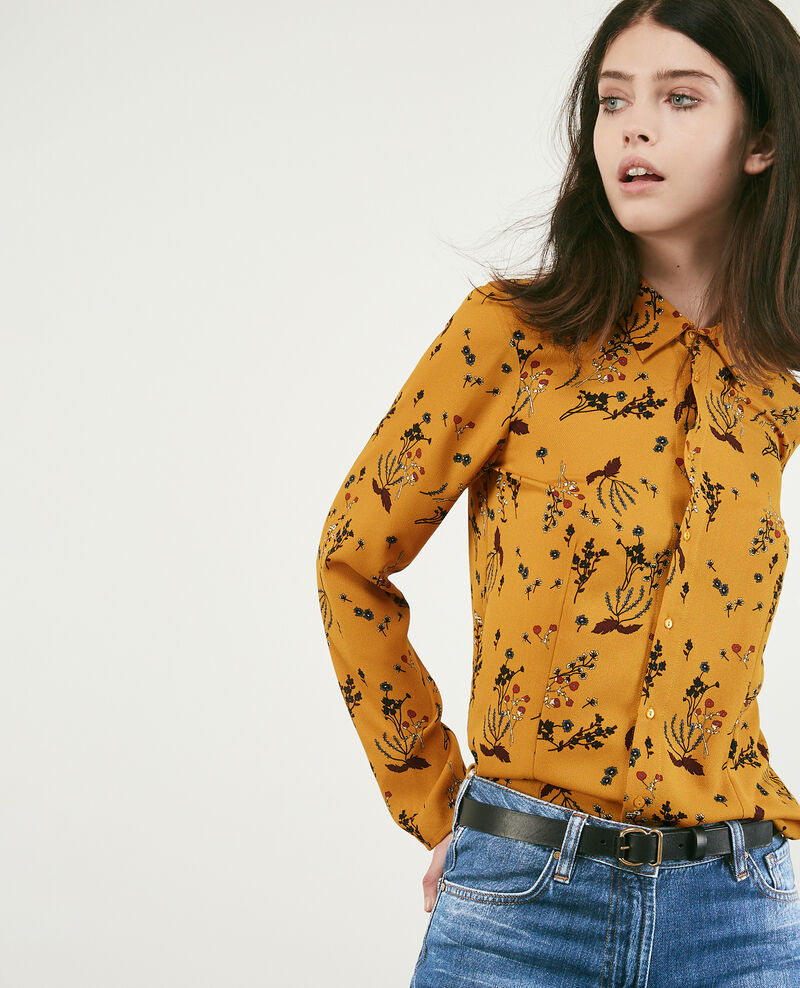 Printed shirt Arty garden curcuma Debbie