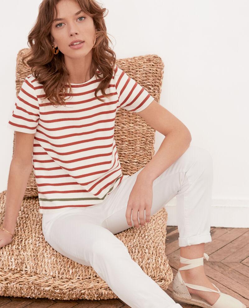 Striped T-shirt KAOLIN/AUBURN/SAGE