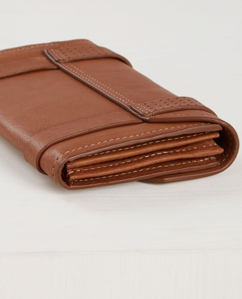 Leather wallet with gusset Platane Cepsy
