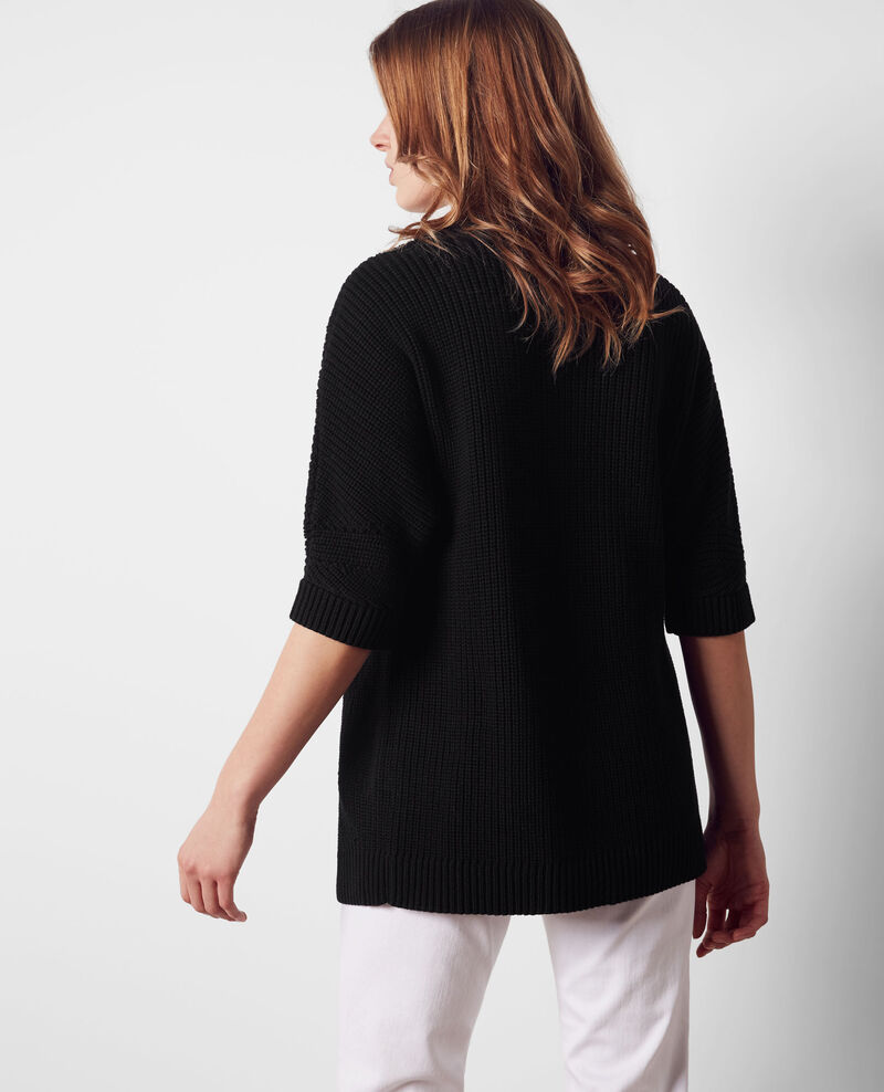 Short-sleeved cardigan Noir Cola