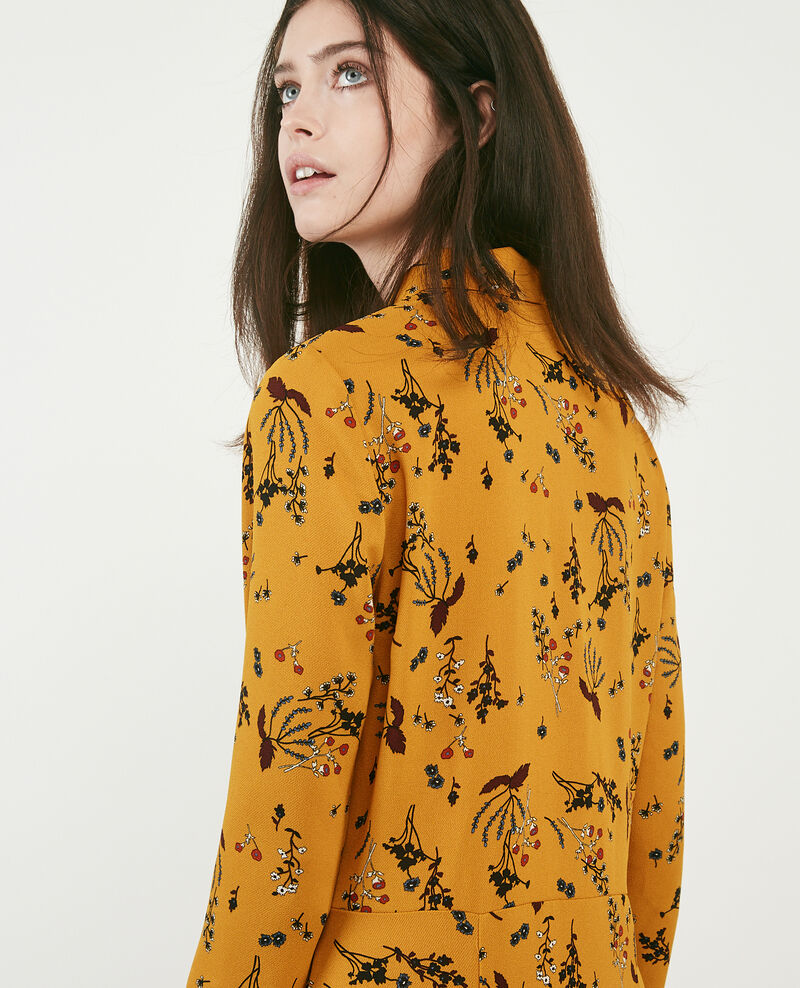 Printed dress Arty garden curcuma Daphne