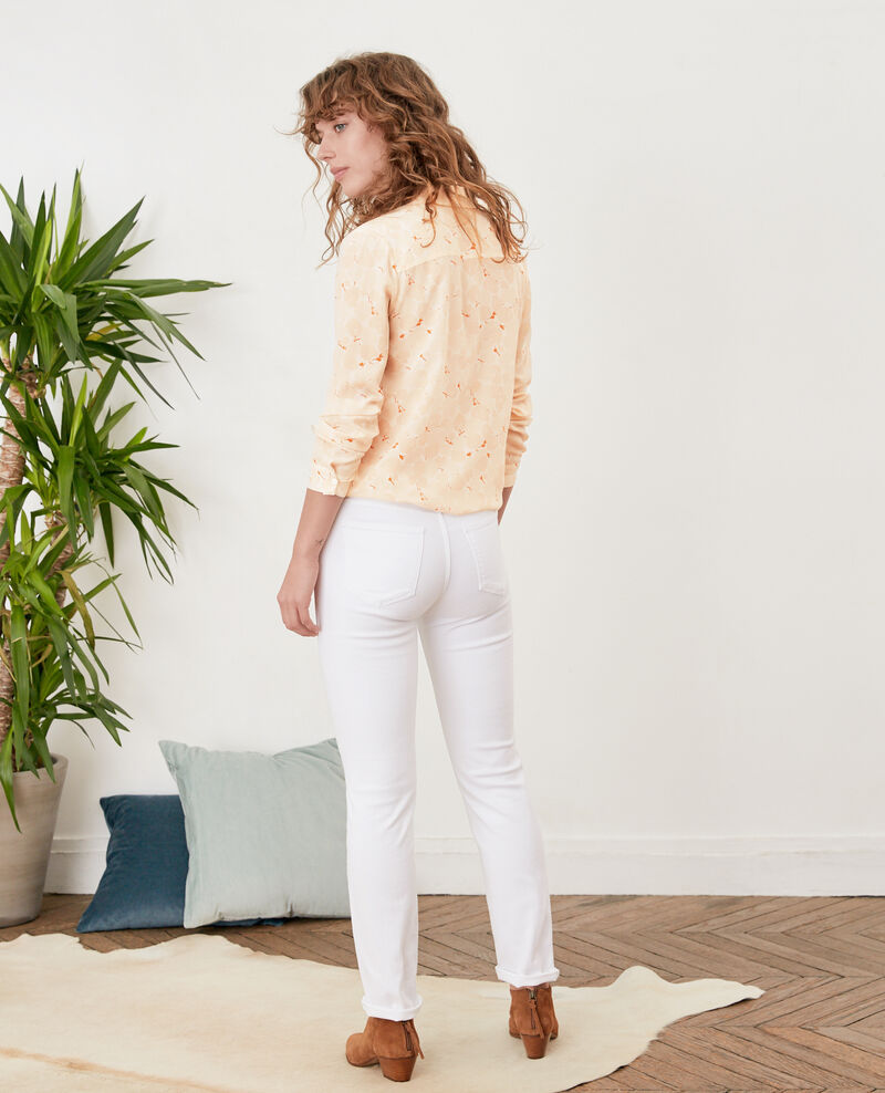 Cigarette jeans Off white Figossa