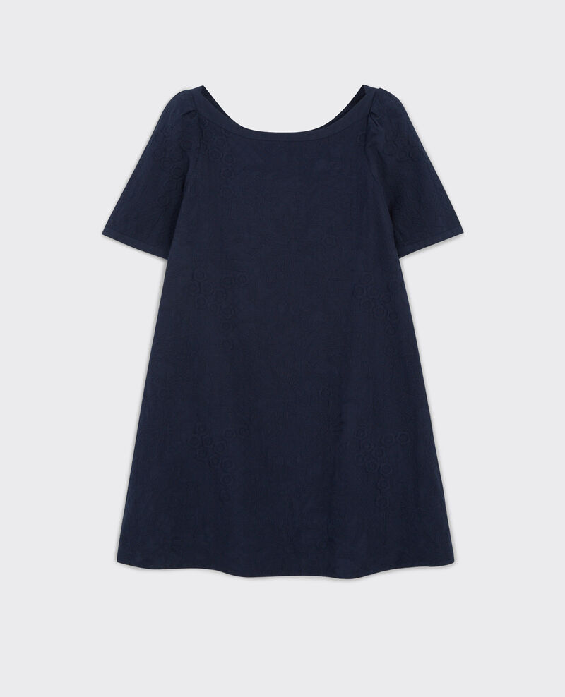 Fully embroidered dress Midnight Campanule