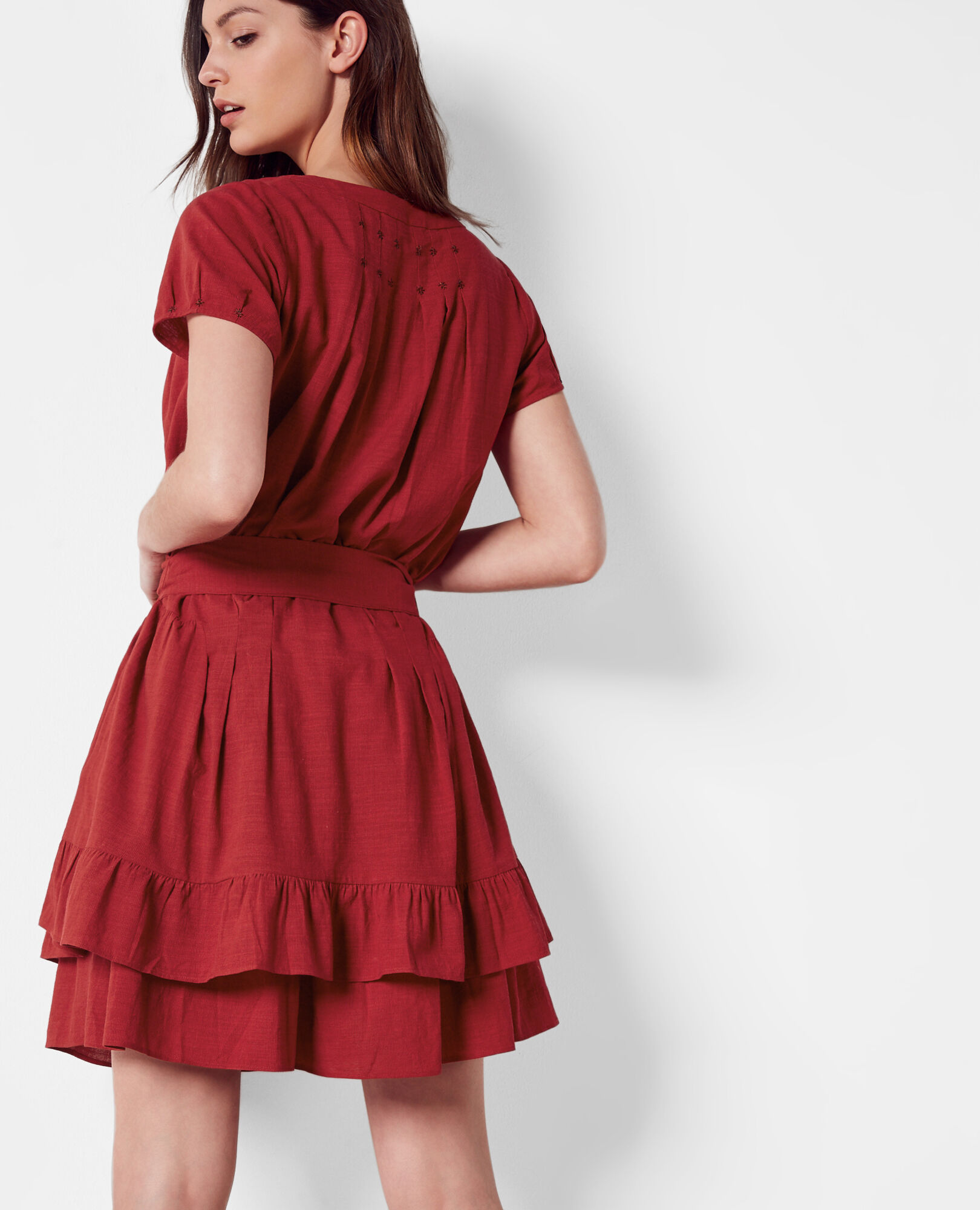 Frilly Red Dress