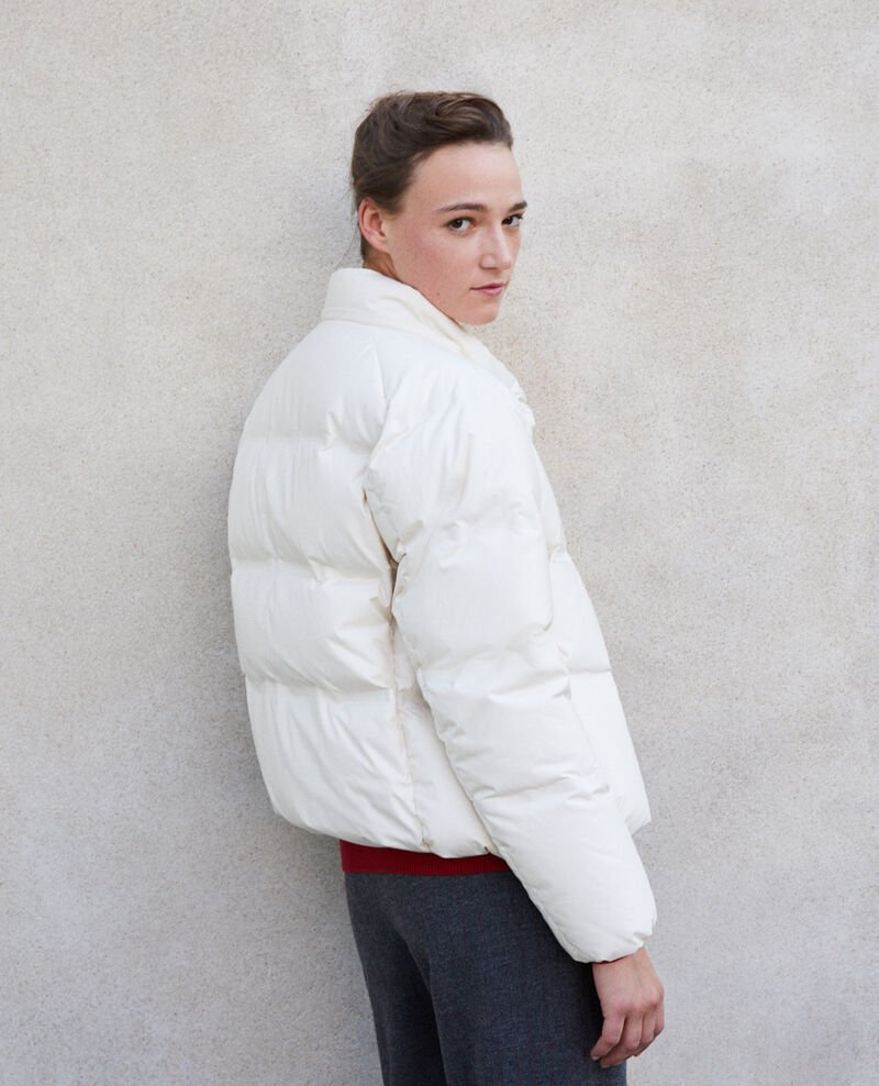 Cosy quilted down jacket  OFF WHITE