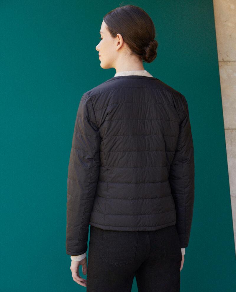 Reversible Mademoiselle Plume jacket Noir/decadente chocolate Gallopo