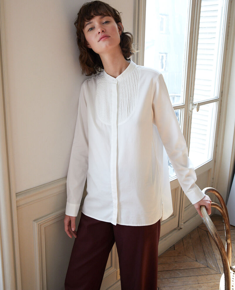 Mandarin collar shirt OFF WHITE