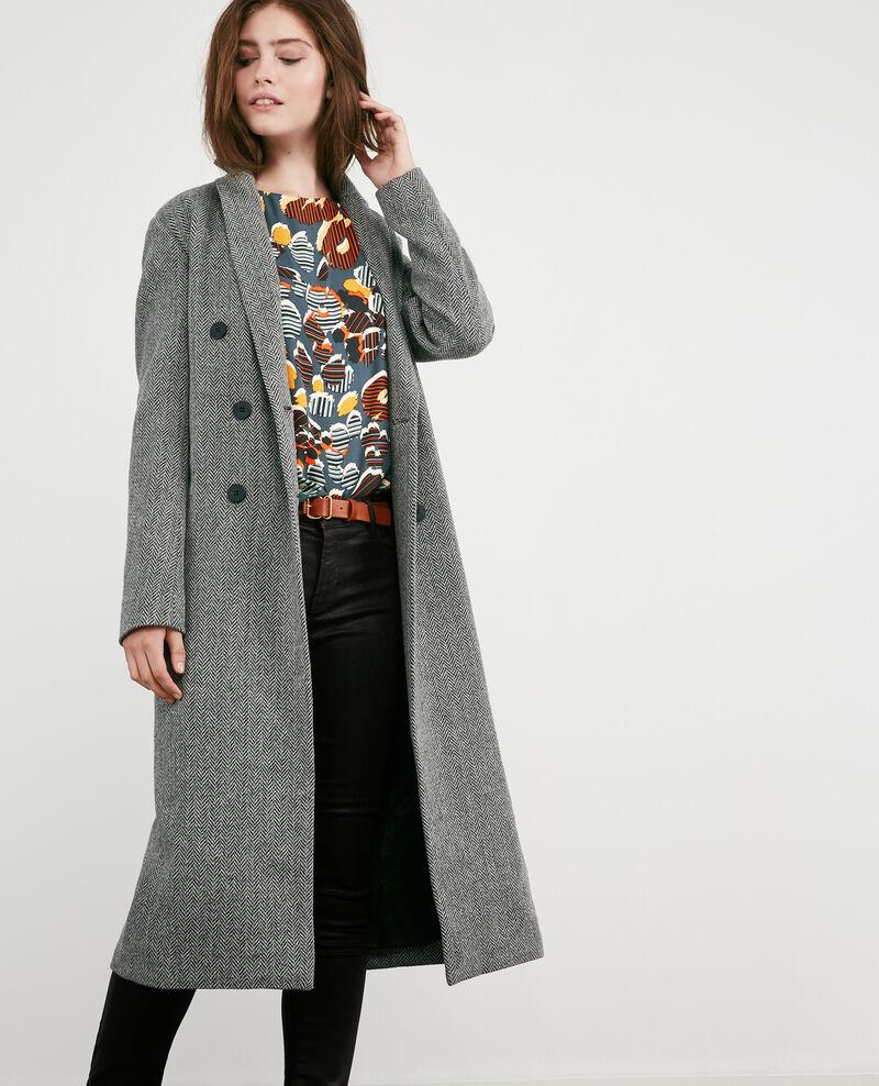 Wool blend tweed coat MEDIUM HEATHER GREY