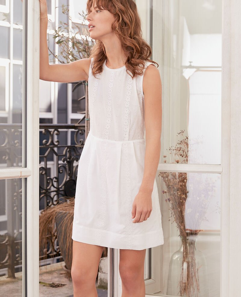 Embroidered dress BLANC