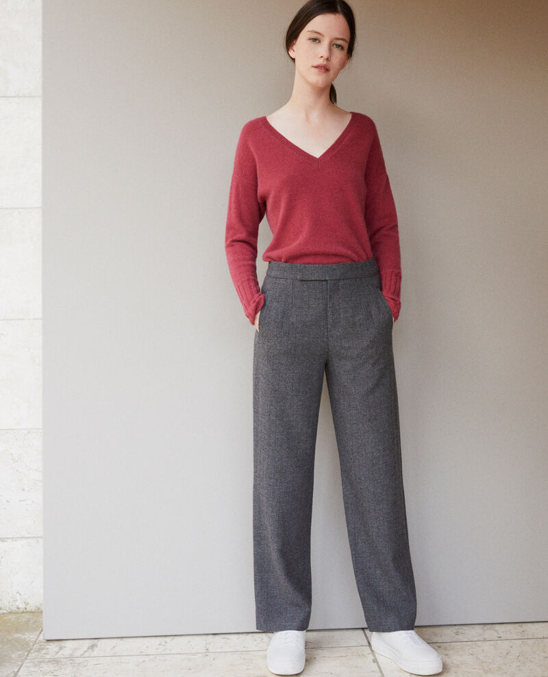 Thick trousers DARK HEATHER GREY
