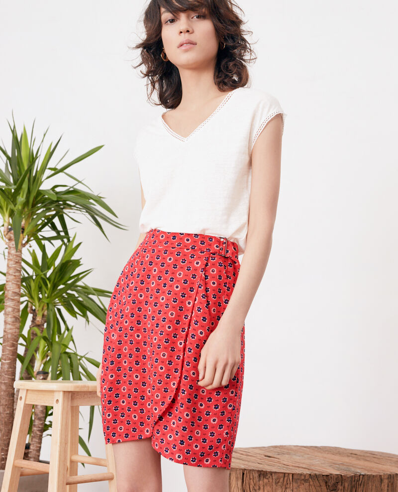Wrap skirt with buckle DANDELION ULTRA PINK