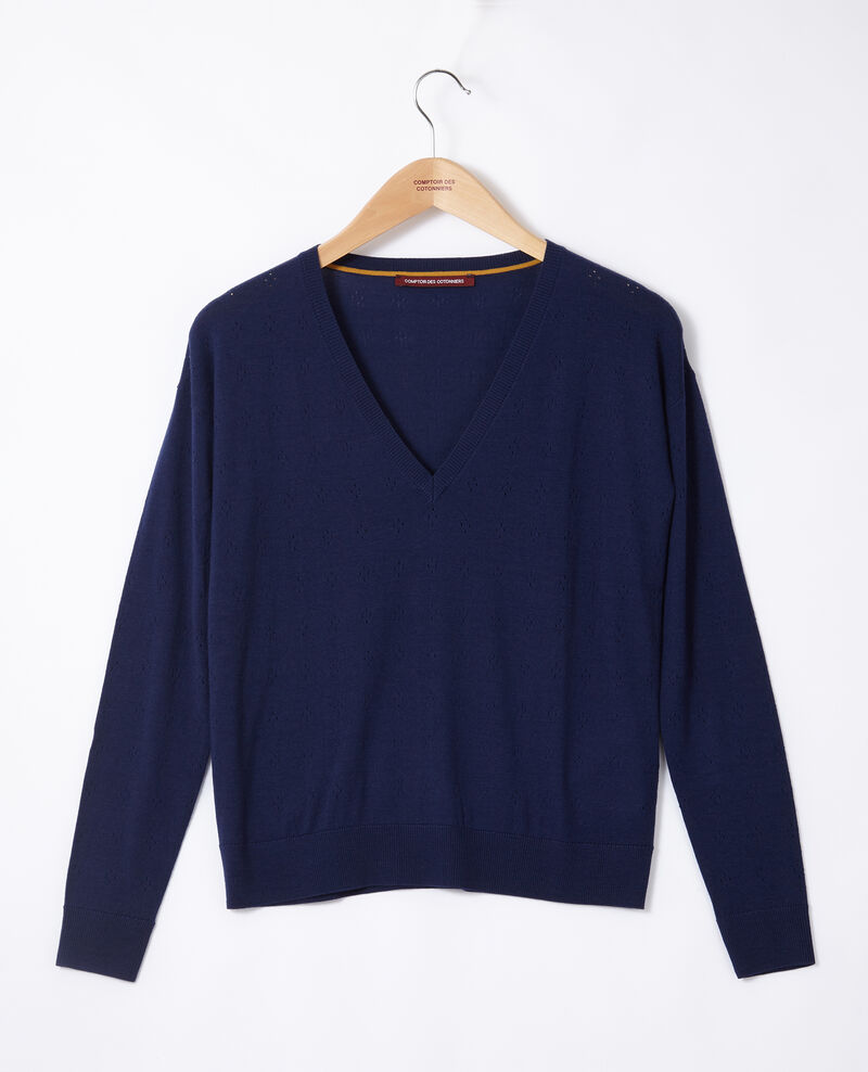 Merino wool jumper MEDIEVAL BLUE