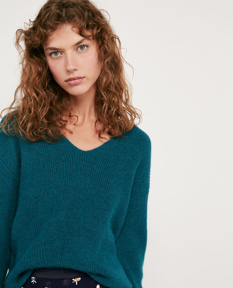 Woll and alpaca jumper Deep sea Darren