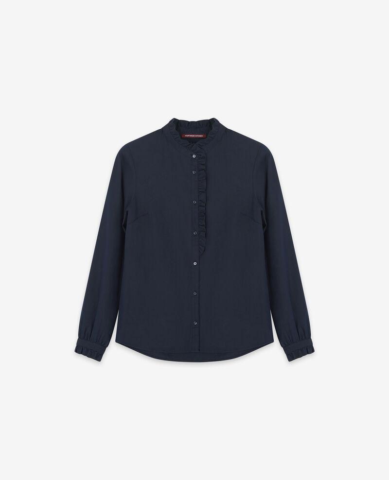 Ruffle shirt Navy Doremi