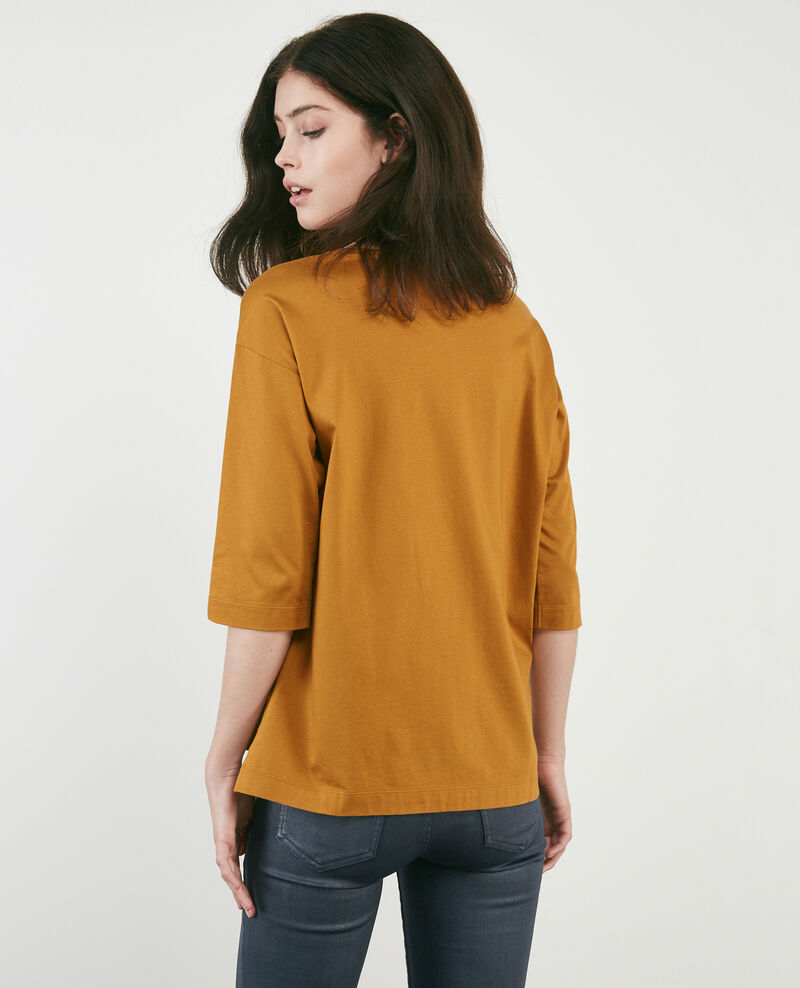 T-shirt with cropped sleeves Curcuma Dimac