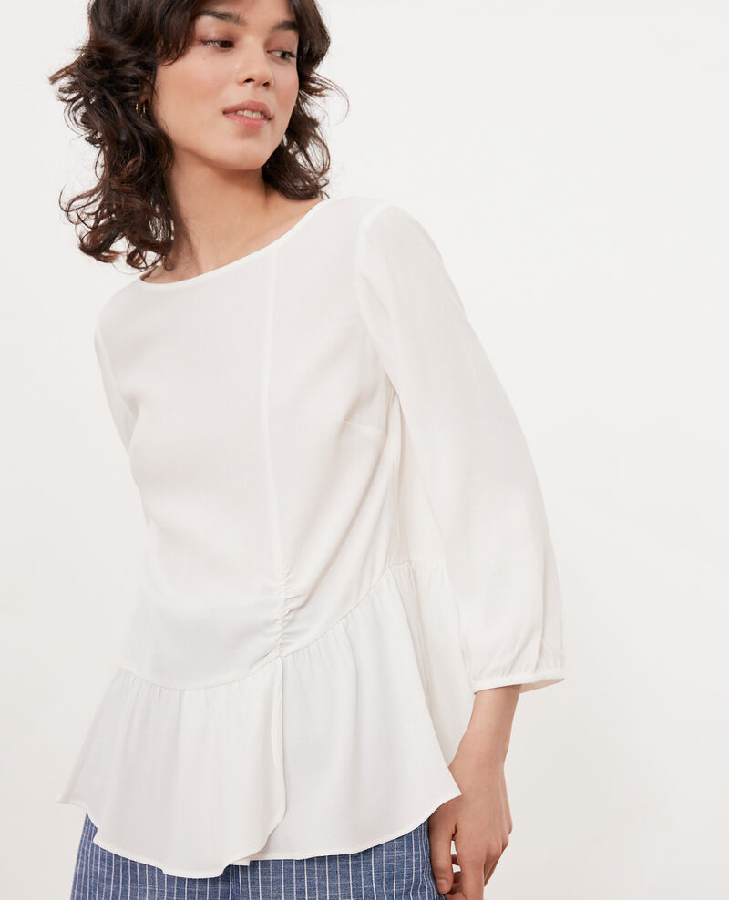 Frilly blouse Off white Fontaine