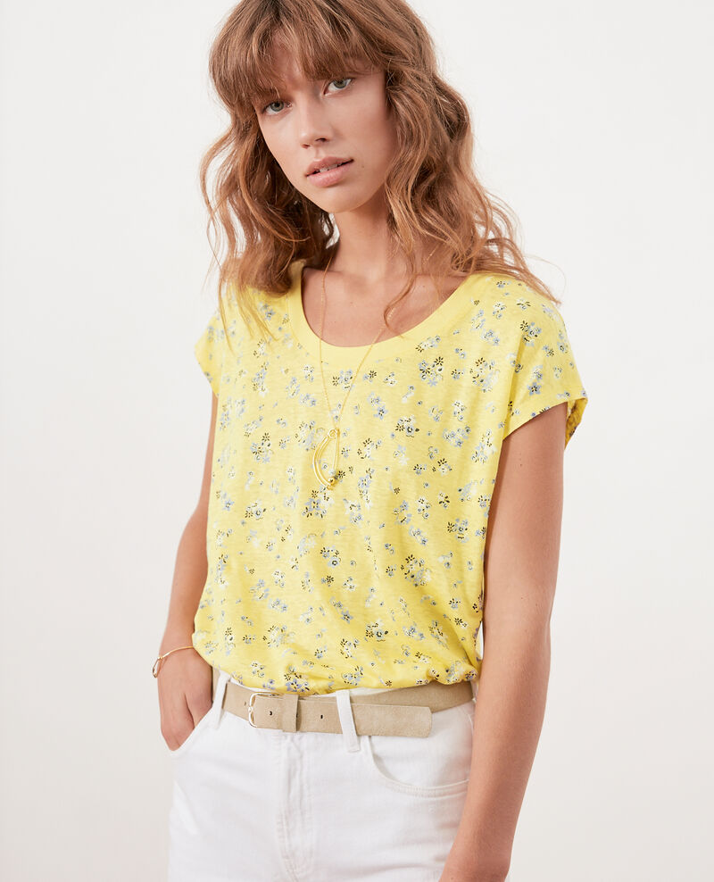 Floral print T-shirt LILLYBELL LEMON