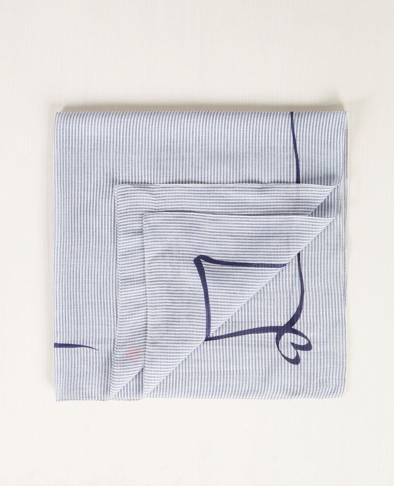 Breton print bandana Ink blue/blanc Candana