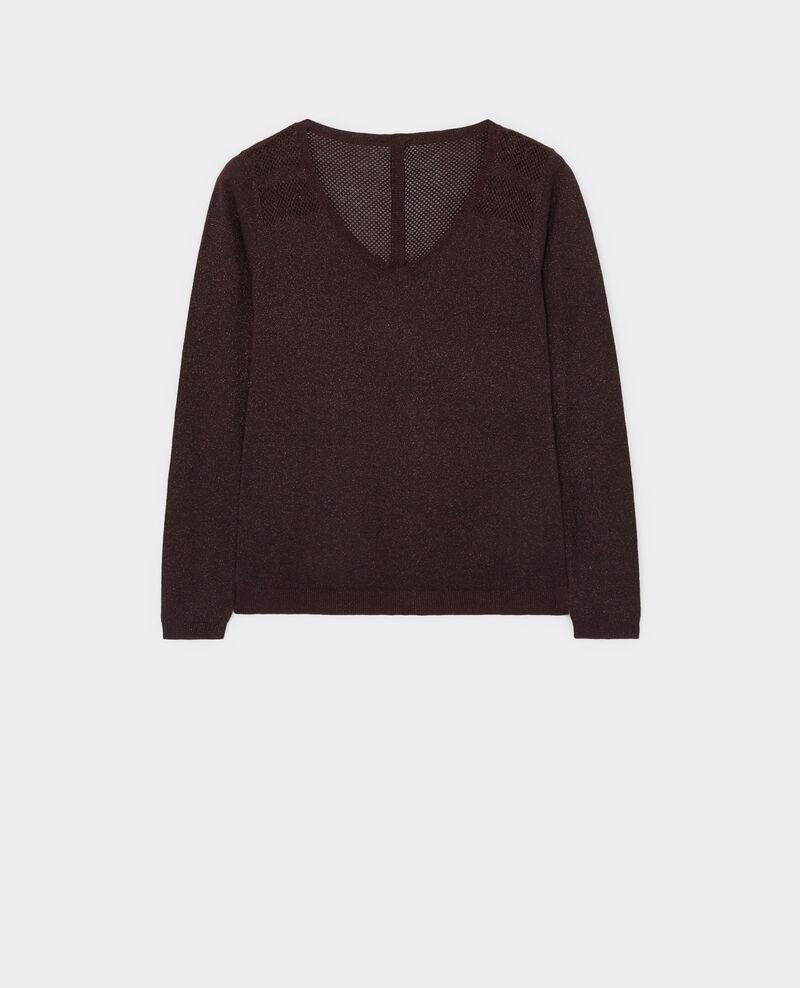 Gift set - Wool and lurex detail jumper Maroon Blayla