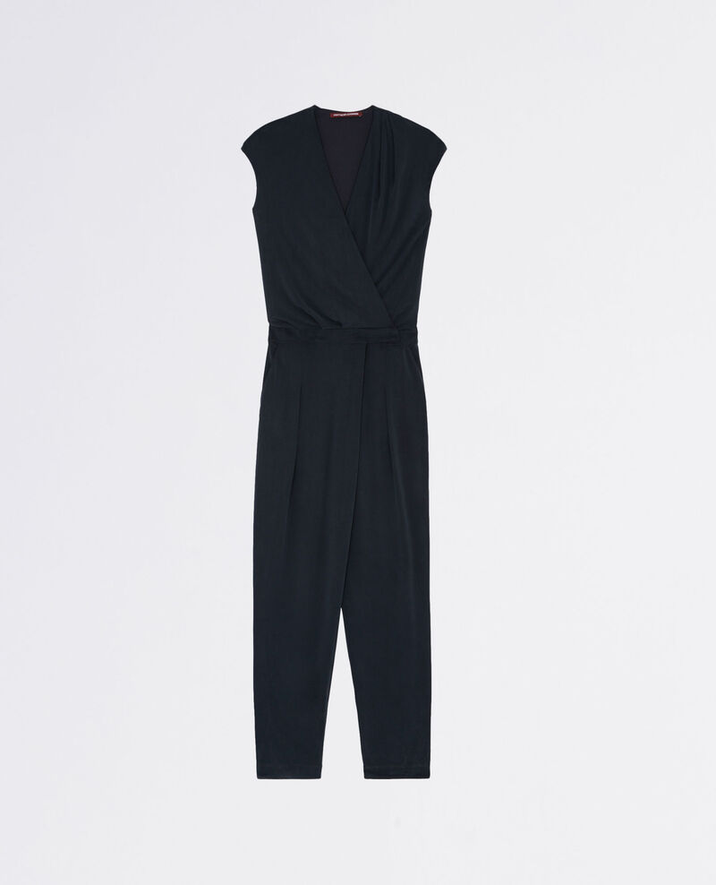 Jumpsuit with loose fit trousers Noir Carabella