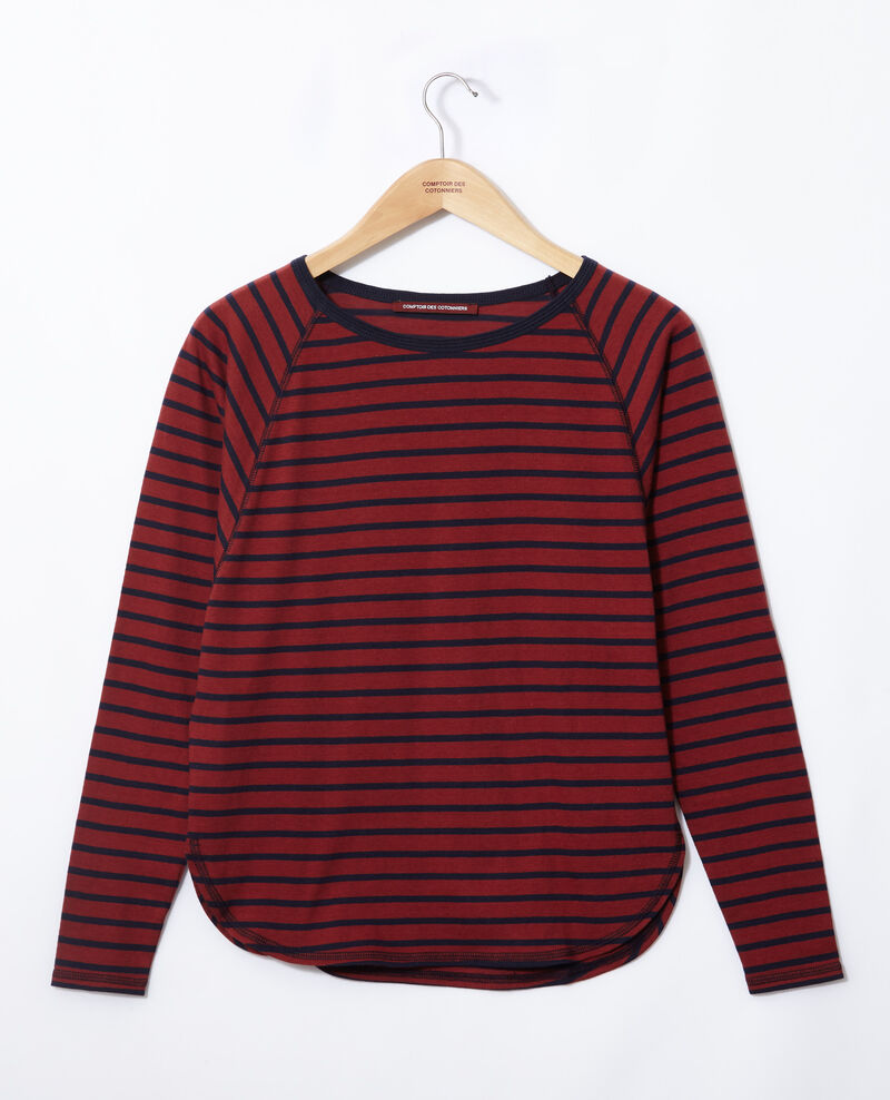 Striped T-shirt Cowhide/peacoat Gainde