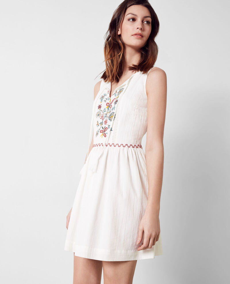 Dress with embroidery details Blanc Coppa