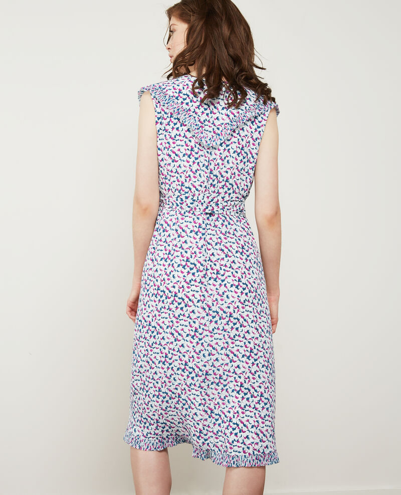 Printed silk wrap dress Bubbles peony Demoiselle