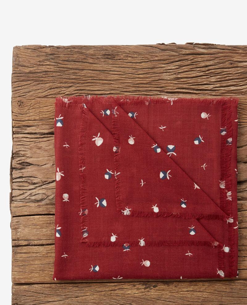 100% wool printed scarf Pinecones devil Dalexia