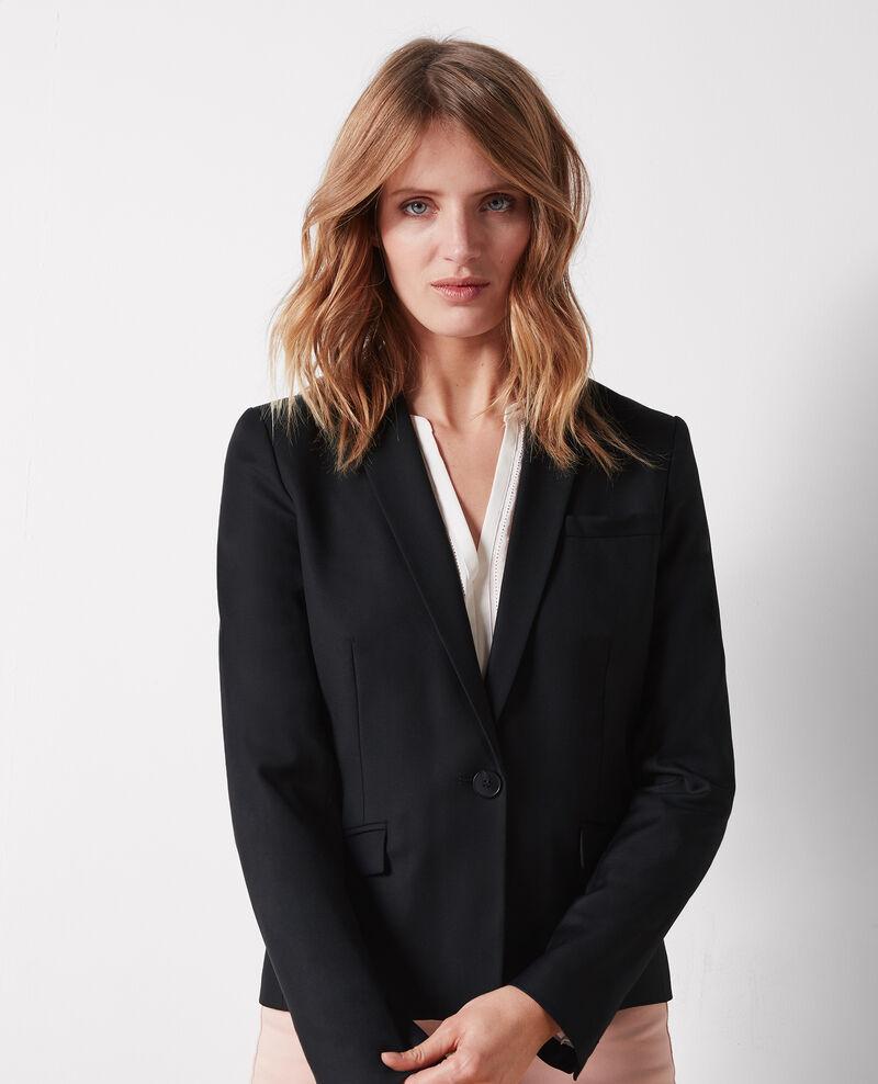 Wool office blazer Noir Celi