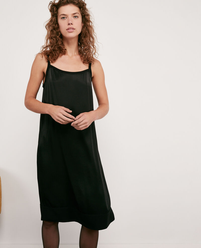 Satin-effect dress Noir Discovery