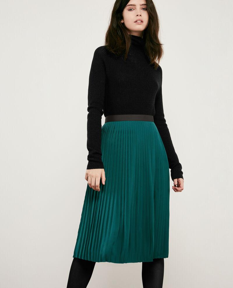 Pleated skirt Light deep green Dallerine