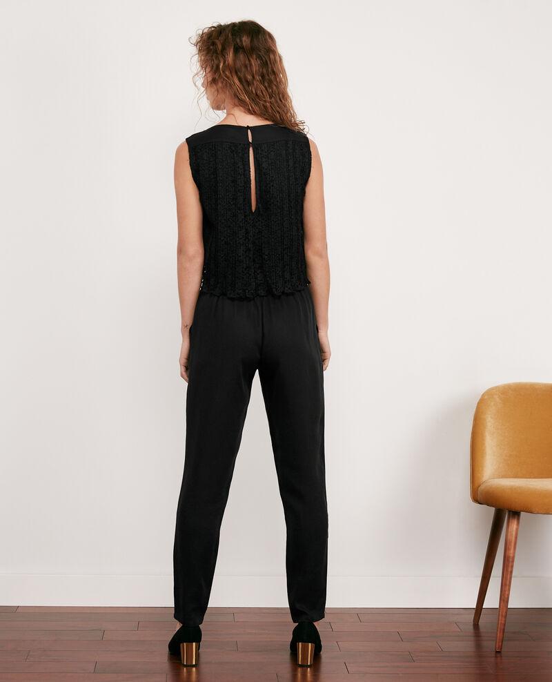 Jumpsuit with lace back Noir Dange