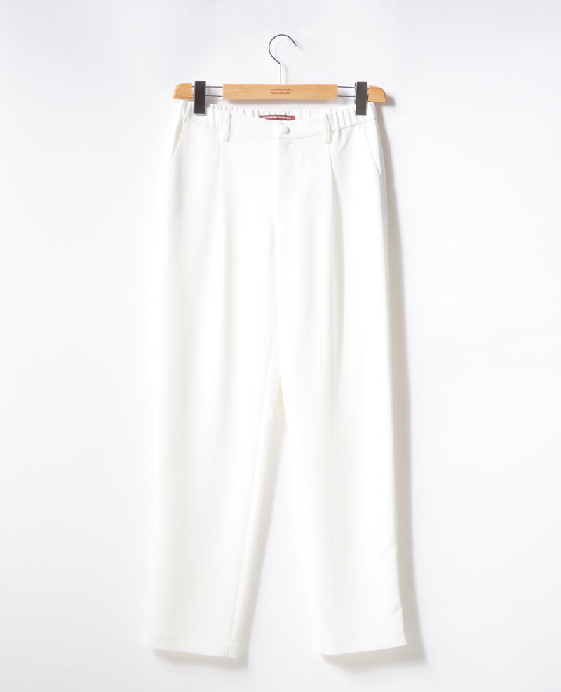 Crepe trousers Blanc Focarina