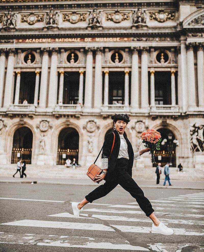 Platform sneakers Blanc Gina