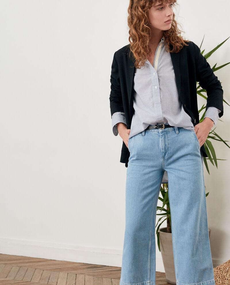 Wide cropped jeans Light indigo Fropigo