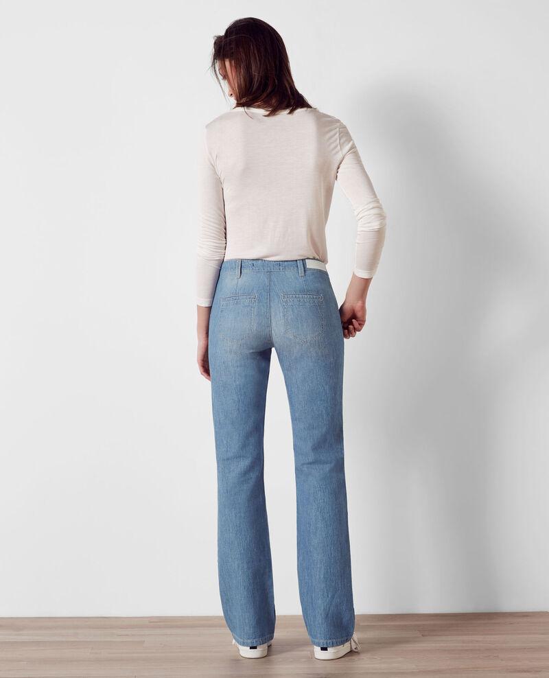 """""""Folie douce"""" high-waisted flare jeans Beach blue Charleston"""