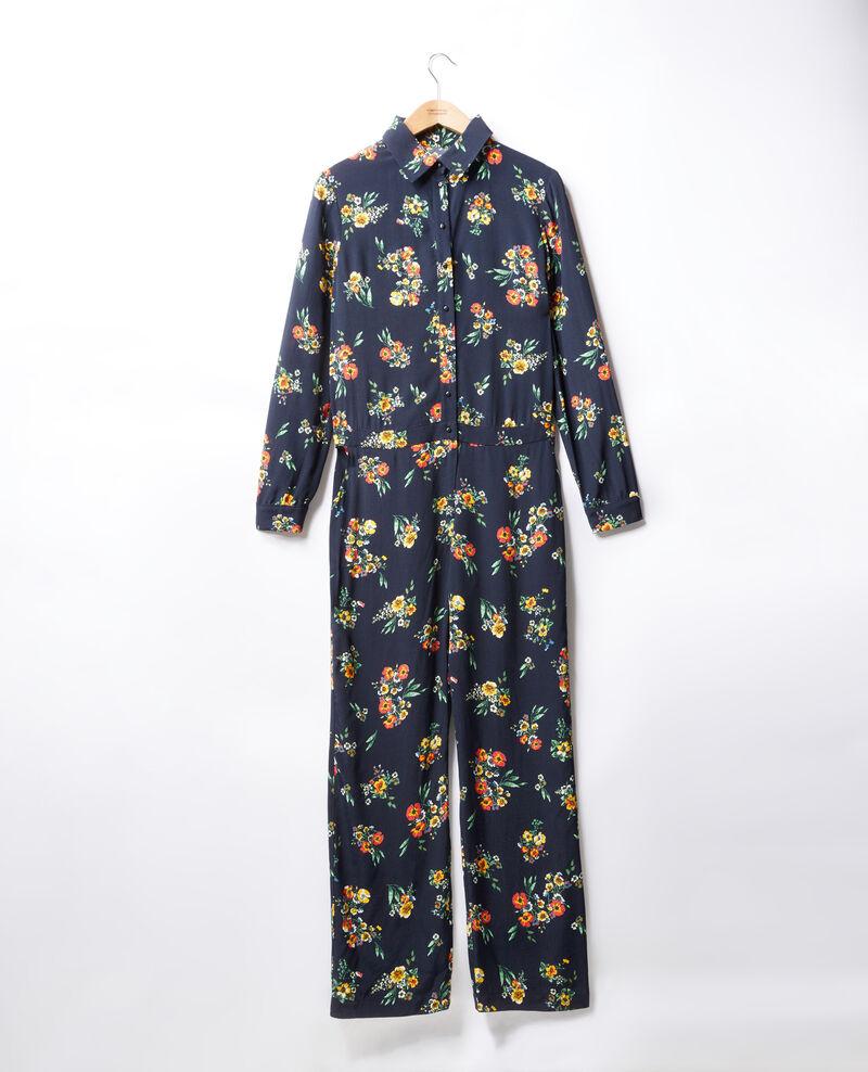 Shirt jumpsuit Fleurs navy Forecast