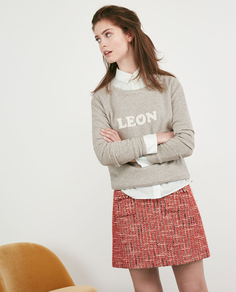 Slogan sweater Light heather grey Dhavirer