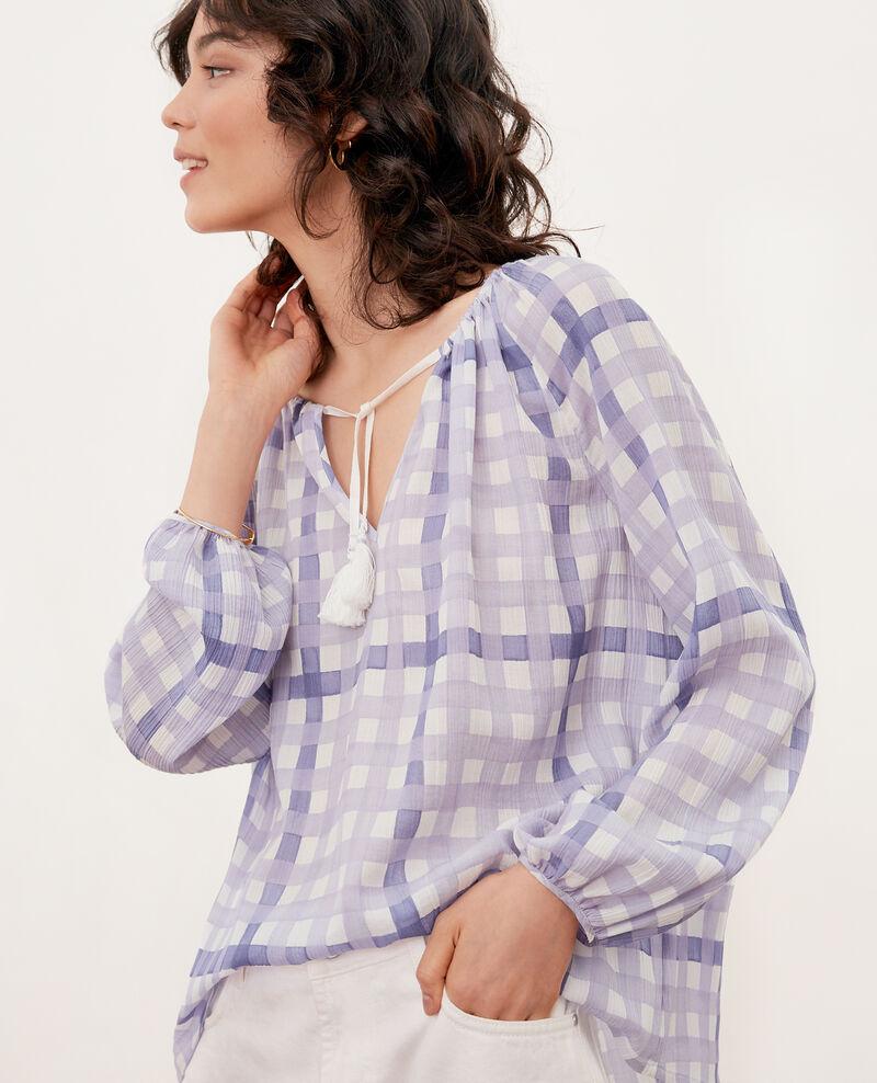 Printed blouse GHINGHAM IRIS