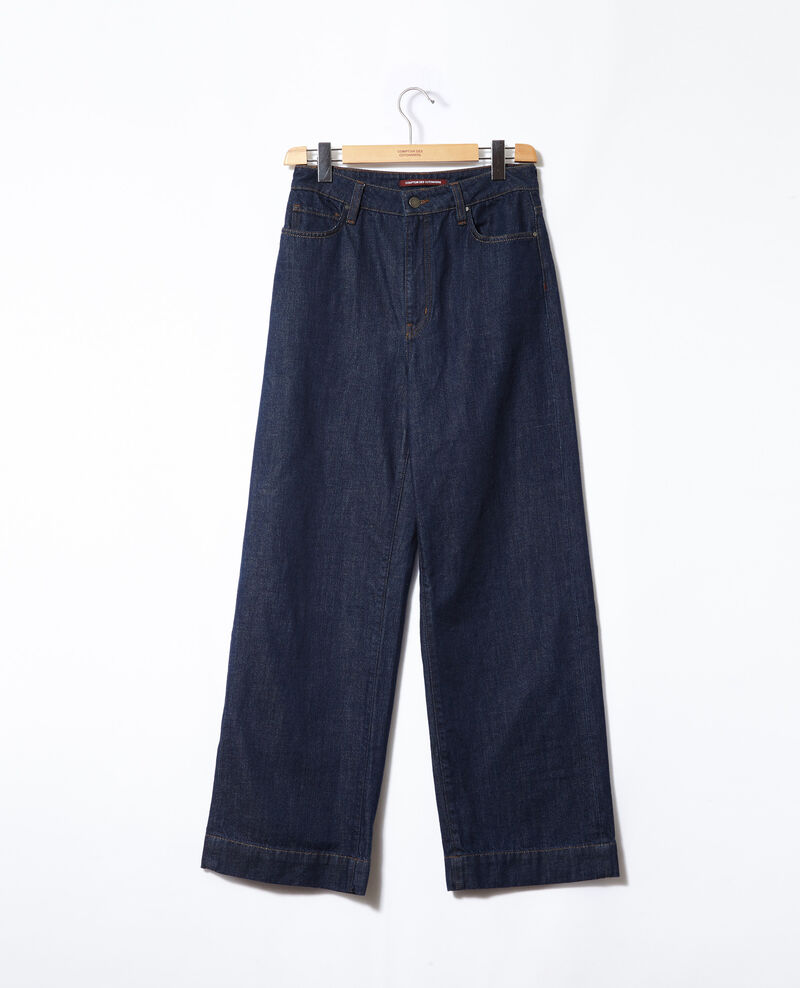 Wide full-length jeans Rinse Glin