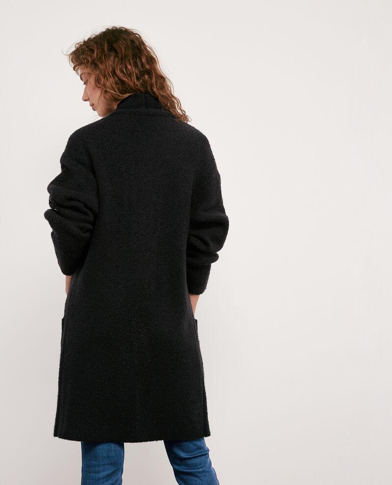 Mid-length cardigan Noir Demis